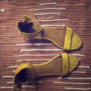 Yellow Heel Sandals